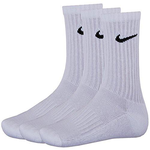 9 Paar NIKE Sportsocken Socken Größe M (38-42) weiss Vorteilspack
