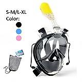 Tauchmaske Schnorchelmaske Tauchermaske Vollmaske Diving Mask Vollgesichtsmaske 180° Schnorchel- Vollmaske, Anti-Fog, Anti-Leak -mit zusätzlichen Atemröhren