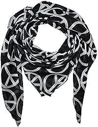 Superfreak® Baumwolltuch mit Peace Muster°Tuch°Schal°Peacetuch°100x100 cm°100% Baumwolle°alle Farben!!!
