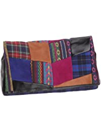 American Retro Patchwork Wallet, Damen Clutch