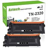 Aztech 2Pack Kompatibel für Brother TN-2320 TN2320 TN2310 TN2310 Toner Cartridge für Brother HL-L2340DW HL-L2300D HL L2360DN MFC-L2720DW DCP-L2520DW DCP-L2500D Toner