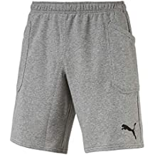 Puma LIGA Casuals Shorts, Pantalones Cortos, Hombre, Gris (Medium Gray Heather-