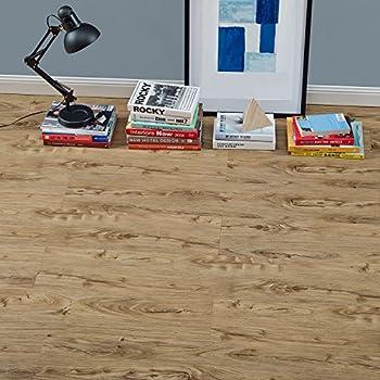 Vinyl PVC floor covering / flooring / highly textured / decor planks / natural oak matte
