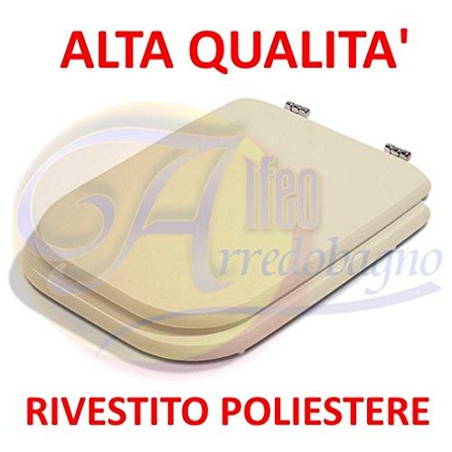 Copriwater sedile wc ideal standard conca champagne coprivaso poliestere alta qualita'