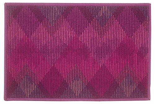 Bianca ad alta densità in fibra di nylon e gomma antiscivolo backing porta mat-18x 71,1cm, (2 White Piatto Mat)