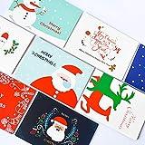 Gaddrt Grußkarten 8pcs Handmade Frohe Weihnachten Papier Grußkarte Mit Umschlag Geschenkkarte 14.8x10.7cm