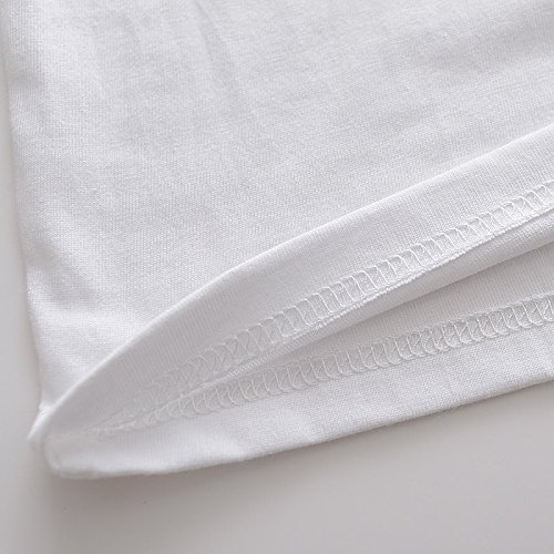 CosDaddy ® remix DJ T-Shirt fashion Asien Size Weiß