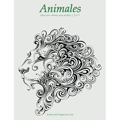 Animales Libro Para Colorear Para Adultos 1, 2 & 3 PDF Download ...