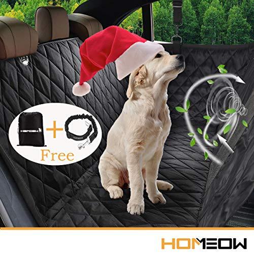 Amaca coprisedile impermeabile homeow coprisedile per cani auto posteriore telo auto per cani bagagliai accessori cane auto protezioni laterali per auto universale con cintura di sicurezza e sacchetto