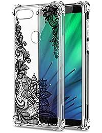 Oihxse Cristal Compatible con Xiaomi Redmi Note 6/Note 6 Pro Funda Transparente TPU Silicona Estuche Airbag Esquinas Anti-Choque Anti Rasguños Diseño Rosa Flower Caso (Flores B4)
