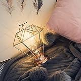 TianranRT Kreativ Schreibtisch Lampe Bügeleisen Schlafzimmer Dekoration Fotografie Requisite Lampe (Roségold)