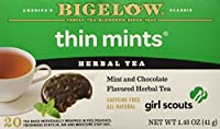 Bigelow Girl Scout Thin Mint Cookie Flavor Herbal Tea, 1 Box with 20 Bags