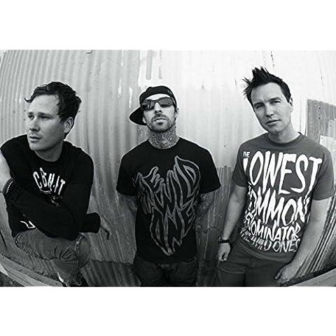 Poster in formato A3 del gruppo musicale Blink 182, composto da Mark Hoppus, Travis Barker, Scott Raynor e Tom DeLonge