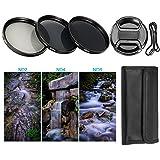 BPS Filtre ND Densité Neutre 52mm ND2 ND4 ND8 + Bouchon d'Objectif Avant Snap-On +Sac de Filtre pour Canon Nikon Sony Pentax Olympus et les Autres Reflex Numérique avec 52 mm Filetage de lentille