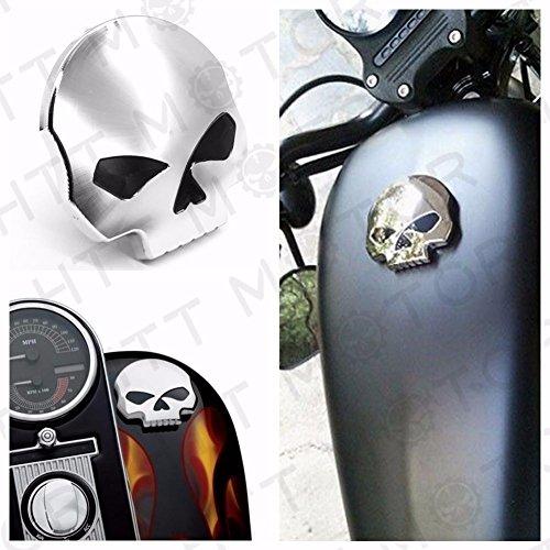 Motorrad Skull Kraftstoff Gas Tank Cap Abdeckung für Harley Dyna Softail Sportster 84–15 (Oil Cap Harley)