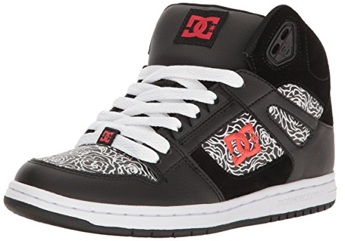 DC Shoes Rebound High TX Se, Sneaker Donna Black/Red/White