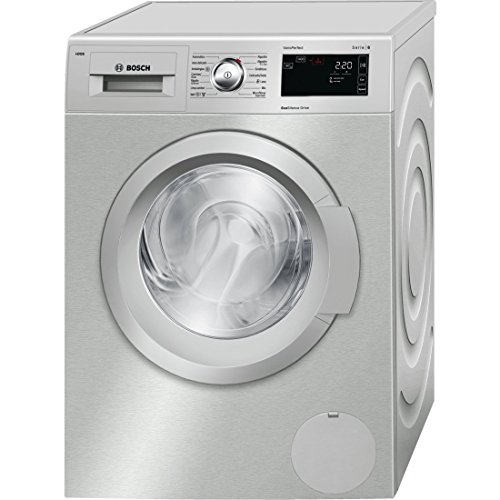 Bosch Serie 6 WAT2866XEE Independiente Carga frontal 8kg 1400RPM A+++-30% Acero inoxidable - Lavadora (Independiente, Carga frontal, A+++-30%, A, B, Acero