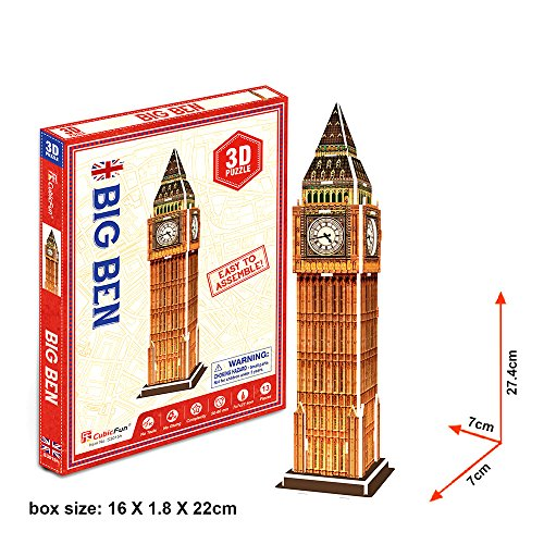 Georgie Porgy Puzzle 3D Jigsaw Building Kids Toys Architettura famosa nel mondo Big Ben 13pezzi