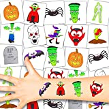 German Trendseller® - 72 Tattoo Set für Kinder | Halloween | Kinder | Tattoos | 72 Stück