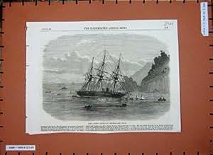 Mer de Devon de Barre À Terre Salcombe de Bateau de 1869 H.M.S de Cadmus