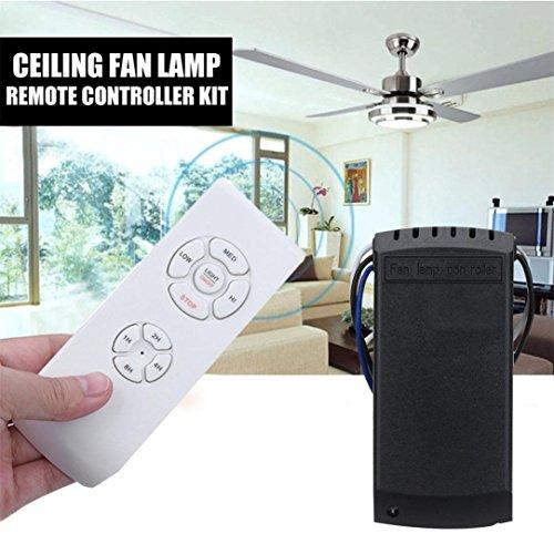 Diadia universel ventilateur de plafond lampe télécommande kit + Télécommande sans fil de synchronisation, peut faire Pénétrer le mur