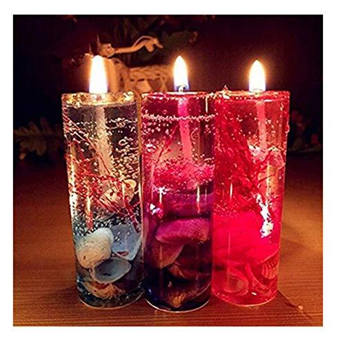 Kerze, Winkey 1pc Aromatherapie Rauchfreie Kerzen Ocean Muscheln Valentines Duftkerze JELLY, (zufällige Farbe)