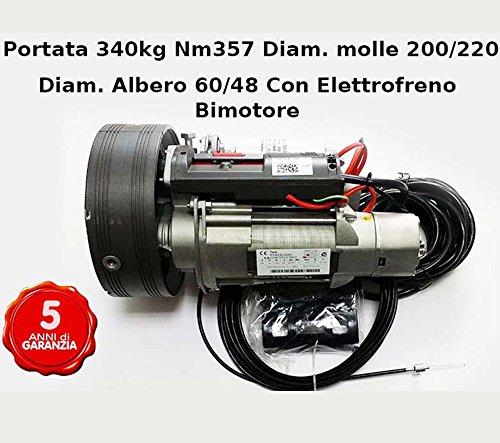 Motor-persiana-enrollable-Garaje-Hasta-340-kg-bimotore-con-freno
