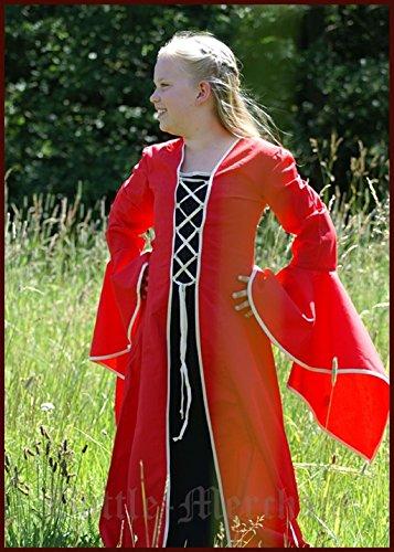 Kindergewand Marie, 8-12 Jahre LARP Gewand Kids Mittelalter Kleid Rot (L / 12 Jahre) (Polizei-kleid Für Kid Online)