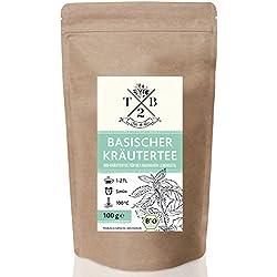 Basischer Kräutertee in Bio-Qualität zur basischen Ernährung mit Brennnessel, 100g (Ca. 40 Tassen)| T2B by Sarenius