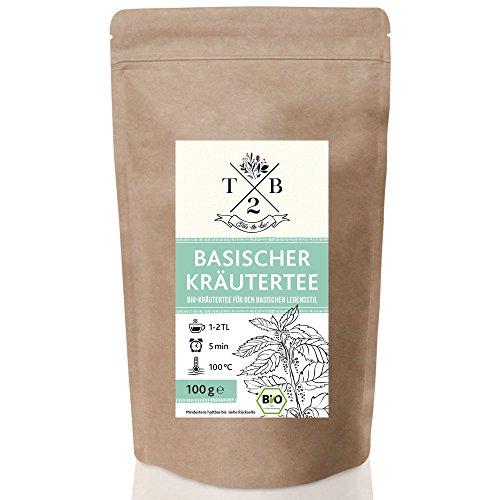 Basischer Kräutertee in Bio-Qualität zur basischen Ernährung mit Brennnessel, 100g (Ca. 40 Tassen) - Tea2Be by Sarenius