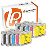 Bubprint 10 Druckerpatronen kompatibel für Brother LC-1000 LC-970 LC970 für DCP-130C DCP-135C DCP-150C DCP-330C DCP-350C DCP-540CN MFC-235C MFC-240C