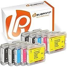 bubprint 10 Cartuchos de impresora compatibles para BROTHER LC1000 LC970 lc-1000 lc-970