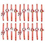 Amosfun Pulseras de Navidad Pulsera de luz led Pulsera de Anillo de aplauso Ajustable Suministros de Fiesta Que Brillan en la Oscuridad