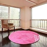 XNNSH 32 Pollici di Lusso Area Rotonda tappeti Super Soft Soggiorno Camera da Letto Tappeto Donna Yoga Mat,Pink,M