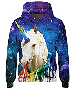 Spreadhoodie Niño Colorido 3D Unicornio