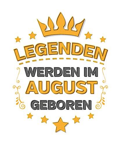 -- Legenden werden im August geboren -- Boys Kapuzenpullover Weiß