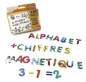 Jeujura - 8970 - Loisir Créatif - ABC et Chiffres Magnétiques - 76 Caractères de 3 x 2.5 cm