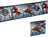 Wandtattoo selbstklebende Bordüre 5 m Spiderman - Wandsticker Aufkleber Amazing Spider Man Spinne Spider-Man für Jungen Borte Wandbordüre