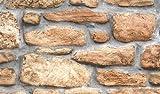 Fablon - Rotolo di Pellicola Adesiva per Rivestimenti, Effetto Muro di Pietra, 45 cm x 2 m