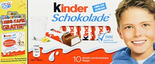 kinder Schokolade (10 Riegel), 40er Pack (40 x 125 g)