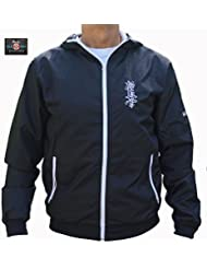 kyokushin Karate Sport Chaqueta; kyokushin Kai Sporting Jacket, color negro, tamaño medium