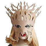 San Bodhi - Máscara de máscara de ojo hueca para mujer, diseño de árbol, para Halloween, fiesta de disfraces, color beige