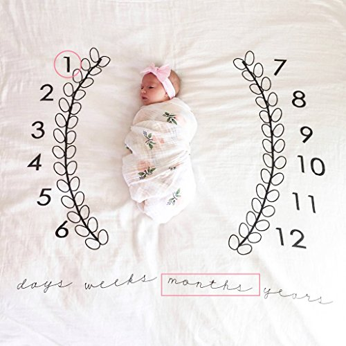 e Meilenstein Decke Neugeborenen Foto Hintergrund Requisiten Baby Swaddling Decke Für Fotografie 40,D ()