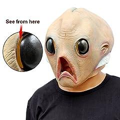 Idea Regalo - CreepyParty Deluxe Novità Halloween Costume Festa Latex Uomo Testa Maschera Alieno