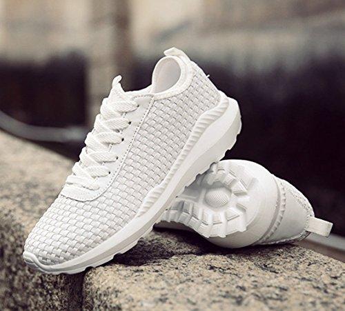 Unisex Sneaker Geflochten Stoßdämpfung Liebespaar Rutschhemmend Strapazierfähig Schick Atmungsaktiv Leicht Weich Topaktuell Turnschuhe Weiß