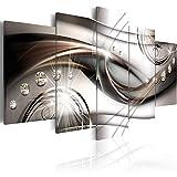 murando - Bilder 200x100 cm Vlies Leinwandbild 5 TLG Kunstdruck modern Wandbilder XXL Wanddekoration Design Wand Bild - Abstrakt Diamant a-A-0174-b-n
