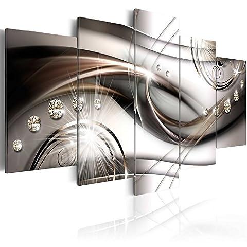 murando Bilder 200x100 cm - Leinwandbilder - Fertig Aufgespannt - Vlies Leinwand - 5 Teilig - Wandbilder XXL - Kunstdrucke - Wandbild - Abstrakt Diamant