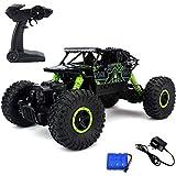 MousePotato Rock Crawler Off Road Race Monster Truck 4WD 2.4GHz, Green