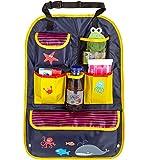 CARTO Rücksitztasche, bunt bedruckt mit vielen Fächern, wasserabweisend, ideal als Reisebegleiter für Kinder - Autositz-Organizer/Rückenlehnen-Schutz/Kick Mat