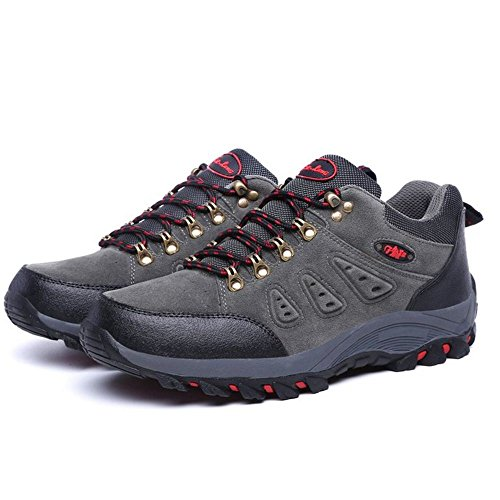 TAOFFEN Stivali Hiking Unisex Adulto Casual Scarpe Sportive Men Dark grey